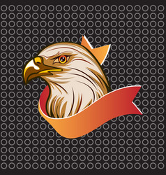 head eagle american symbol vector image