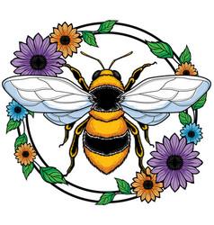 Honey bee mascot vector