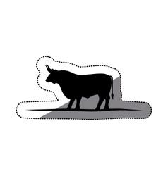 Isolated bull animal design vector