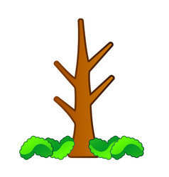 isolated comic tree vector image
