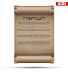 Legal contract signing vector