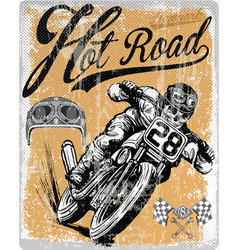 Legendary vintage racers t-shirt label design vector