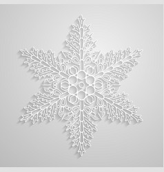 lined snowflake paper linear snowflakes vector image