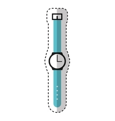 masculine hand watch icon vector image