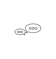 message bubbles thin line icon chat outline vector image