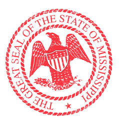 mississippi state rubber stamp vector image