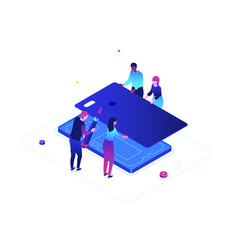 mobile repair service - modern colorful isometric vector image