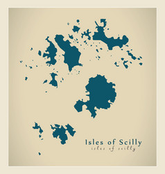 Modern map - isles of scilly unitary authority vector