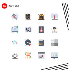 Modern set 16 flat colors and symbols such as vector