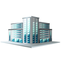 Modern style of office building vector