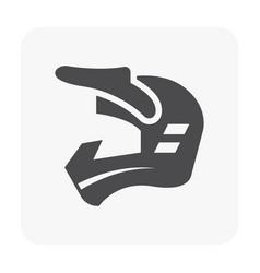 Motocross helmet icon vector