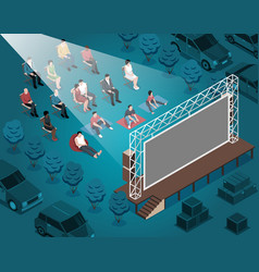 open air cinema composition vector image