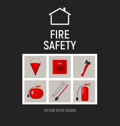 Pamphlet fire safety concept template vector