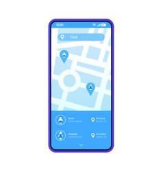 parental monitoring smartphone app interface vector image