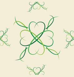 pattern 0103 clover good luck symbol vector image