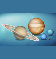Planets in space scence vector