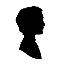 Profile silhouette of a handsome man vector image