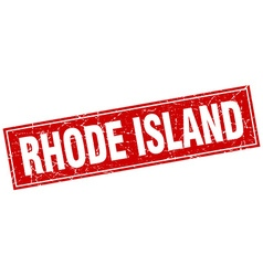 Rhode Island red square grunge vintage isolated vector