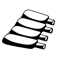 Ribs butchery product icon vector
