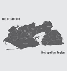 Rio de janeiro metropolitan region vector