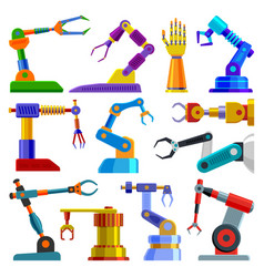 robot arm robotic machine hand technology vector image