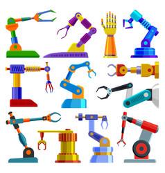 Robot arm robotic machine hand technology vector