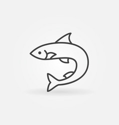 Salmon fish outline icon or logo element vector