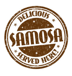 samosa sign or stamp vector image