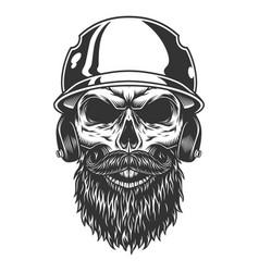 skull in baseball hat vector image