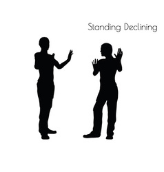 Standing Declining pose on white background vector