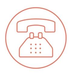 Telephone line icon vector