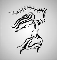 Tribal Virgo vector
