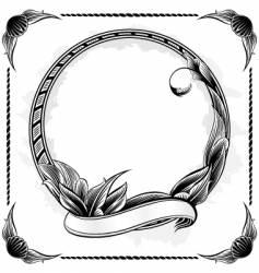 vintage circle frame vector image