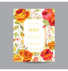 Vintage Floral Frame - for Invitation Wedding vector
