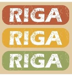 Vintage Riga stamp set vector