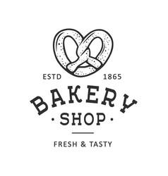 vintage style bakery shop label badge emblem logo vector image