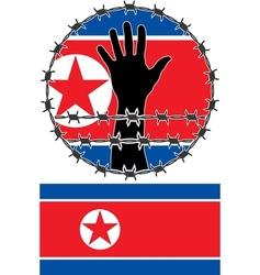 Violation human rights in north korea vector