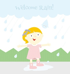 Welcome rain vector