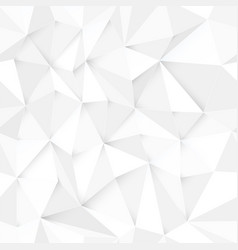 white 3d triangle pattern seamless design vector image