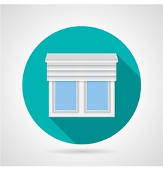 Window with up shutters flat icon vector