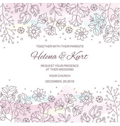 Winter wedding invitation vector