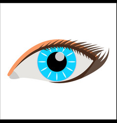 woman eye face body icon label vector image