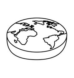 world planet isometric icon vector image