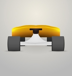 Yellow longboard vector