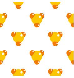 Yellow molecule pattern flat vector