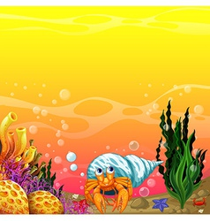 A shell under the sea vector image vector image