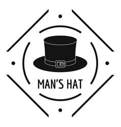 cylinder hat logo simple black style vector image
