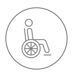 Disabled person line icon vector image
