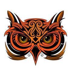 owl tattoo shape vector image vector image