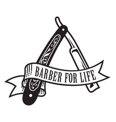 barber for life design vector image vector image